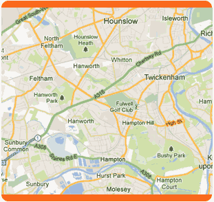 map south west london
